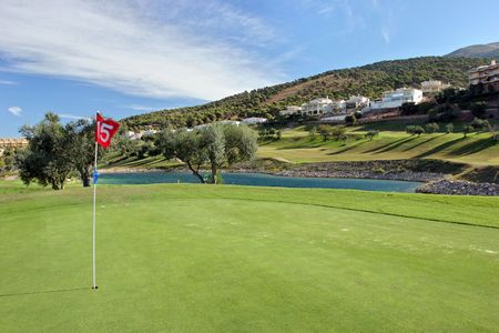 15th Green at Alhaurin golf course on the Costa del Sol in Spain