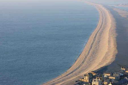 wierd: The Famous Chesil beach near portland in Weymouth, Dorset, Southern England