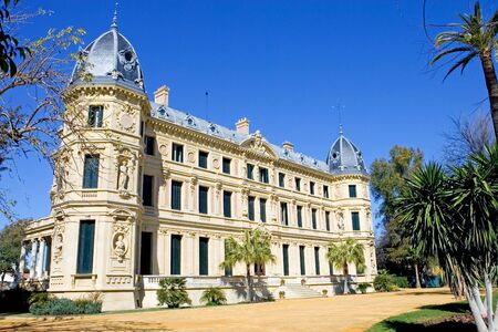 elaborate: Elaborate and ornate architecture and building of Jerez horse riding school in Spain