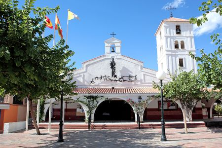 costa del sol: Beautiful Spanish church on the Costa del Sol in Spain on a sunny day