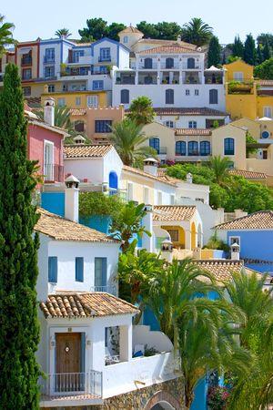 hillside: Colorful Spanish pueblo on hillside in Marbella on the Costa del Sol
