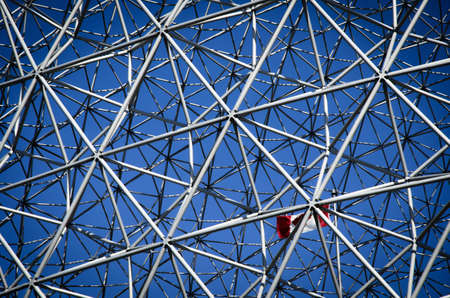 Canada Flag, Montreal Biosphere on Saint Helen s Island in Montreal, Quebec, Canada photo