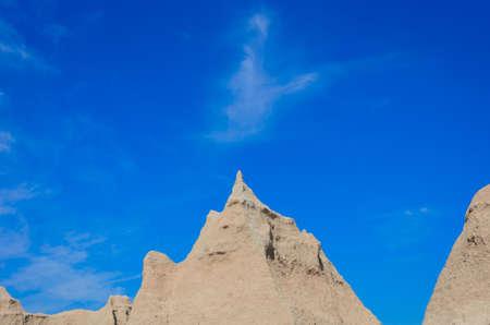 spires: spires badlands geological formations of the Badlands National Park Stock Photo
