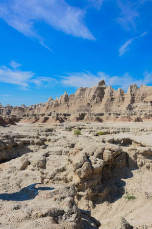 badlands: badlands geological formations of the Badlands National Park