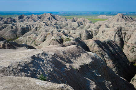 scoria: badlands geological formations, Scenic view of the Badlands National Park
