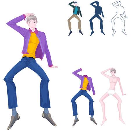leisureliness: Representation of man dancing