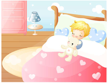 puerile: Representation of boy sleeping