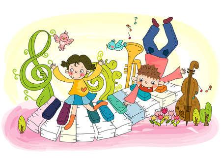 leisureliness: Representation of boy and girl enjoying music LANG_EVOIMAGES
