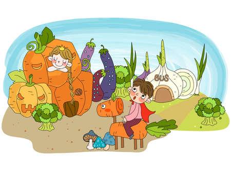 puerile: Representation of vegetables LANG_EVOIMAGES