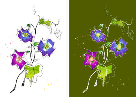 digitally enhanced or generated: Representation of flowers LANG_EVOIMAGES