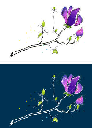 digitally enhanced or generated: Representation of flower LANG_EVOIMAGES