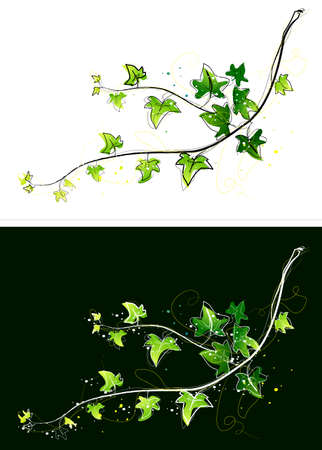 digitally enhanced or generated: Representation of ivy