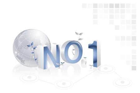 no1: No.1 with globe