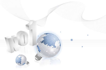 no1: Bulb globe with no.1 LANG_EVOIMAGES