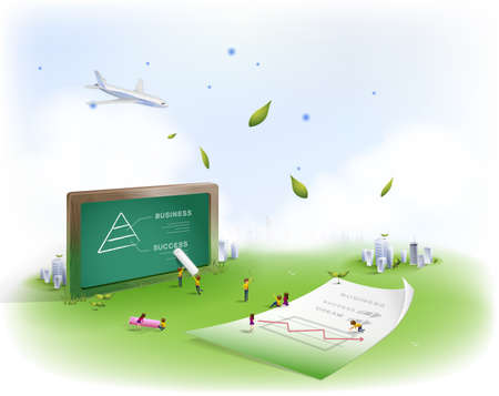 slateboard: People making presentation on slate