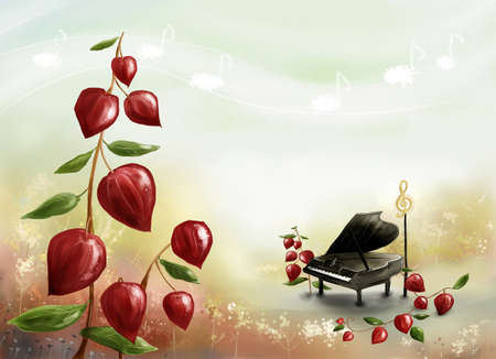 creativeness: Representation of piano by plant LANG_EVOIMAGES