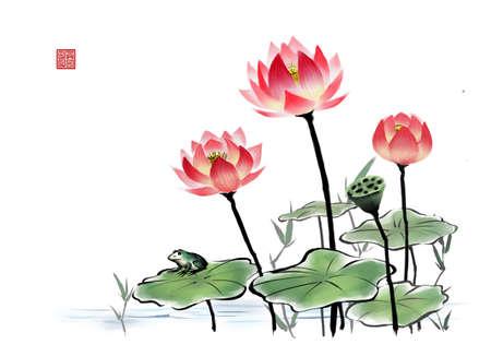 enhanced: Painting of lotus