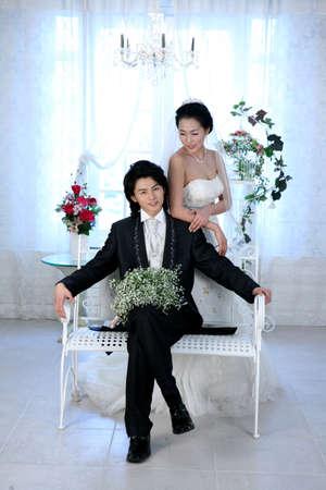joyousness: Bride and groom