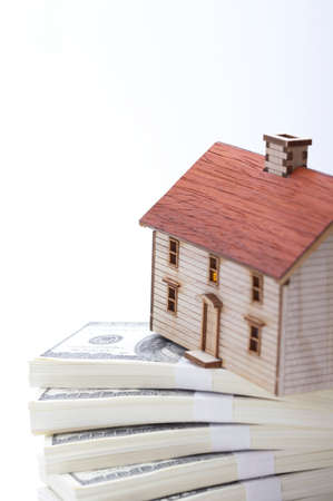 us paper currency: Toy house on US paper currency bundle LANG_EVOIMAGES
