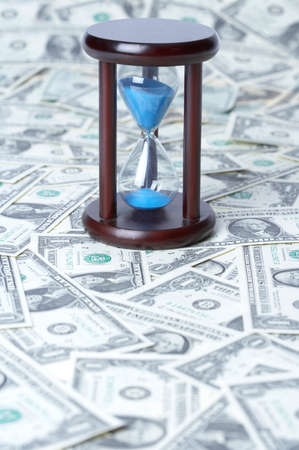 us paper currency: Hourglass on US paper currency