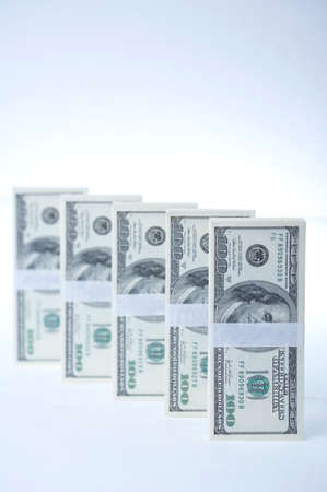 richness: US paper currency note bundles