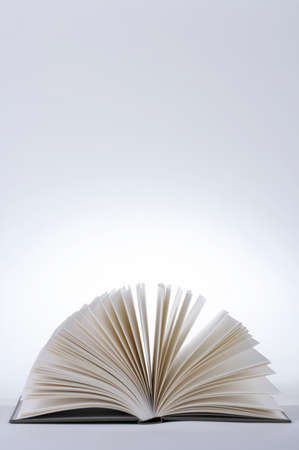 splayed: Book pages, close-up