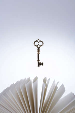 splayed: Key hanging on pages splayed