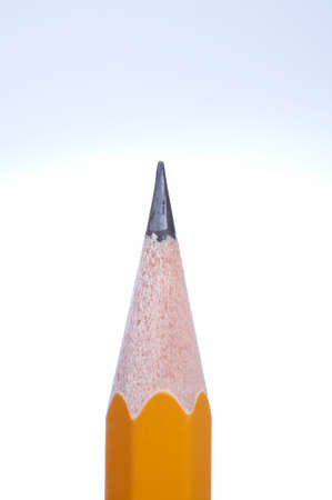 against white: Pencil against white background