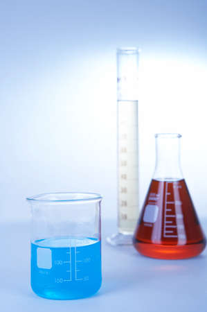 reagents: Laboratory glassware with reagents