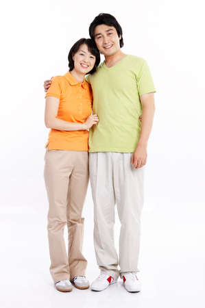 portraiture: Portrait of a mid adult couple smiling