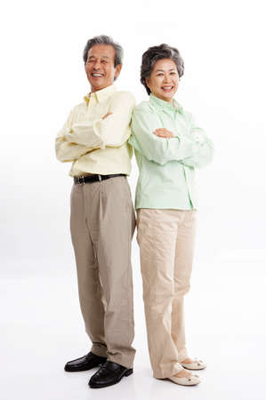 portraiture: Portrait of a senior couple with arms crossed