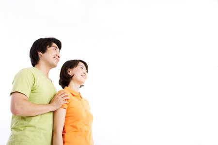 mid adult couple: Mediados de adultos pareja sonriente