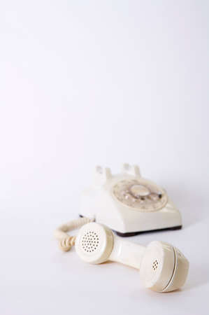 accessing: Old fashioned landline telephone, close-up