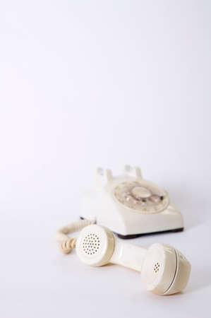verbal: Old fashioned landline telephone, close-up