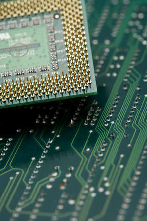 man made object: Green circuit board, close up LANG_EVOIMAGES