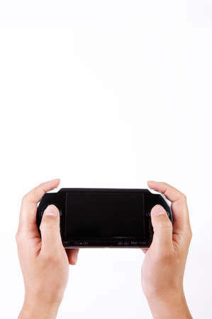 leisureliness: Man playing video game, close up LANG_EVOIMAGES