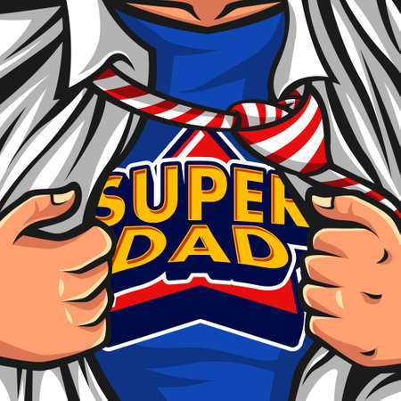 Super Dad Vector illustration Ilustrace