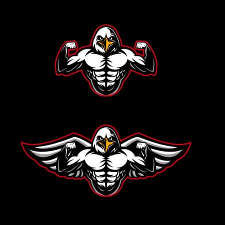 Strong eagle  mascot Vettoriali