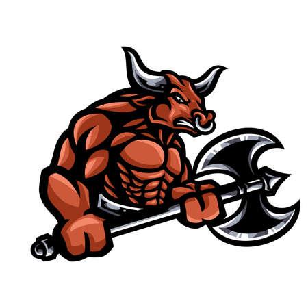 Bull mascot Ilustrace