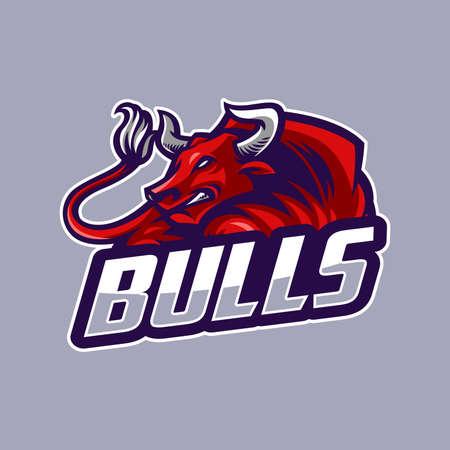 Bull sport logo Ilustrace