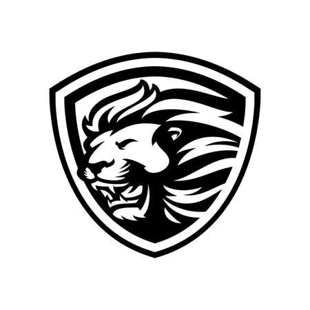 Lion mascot sport logo