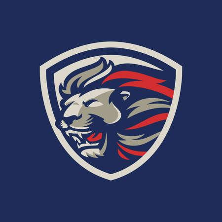 Lion sport mascot logo