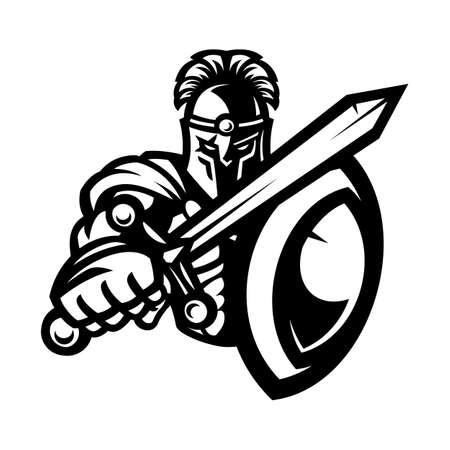 Warrior mascot Иллюстрация