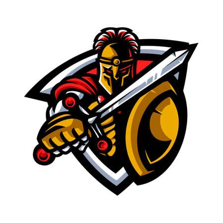 Warrior mascot Stock Illustratie