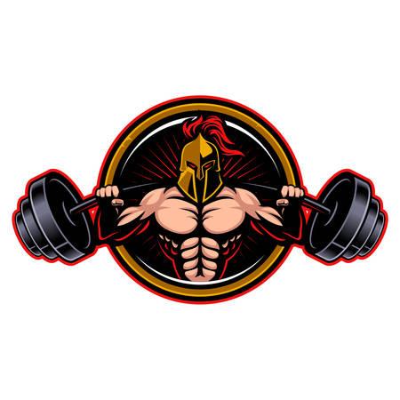 Spartan strong sport logo Stockfoto - 131790313