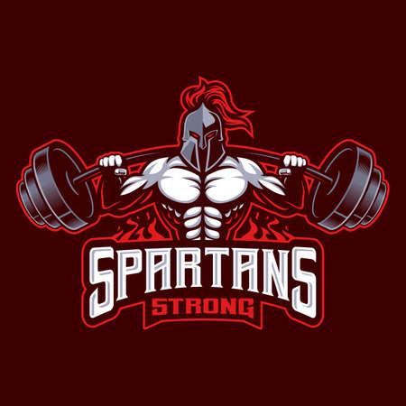 Spartan strong sport logo