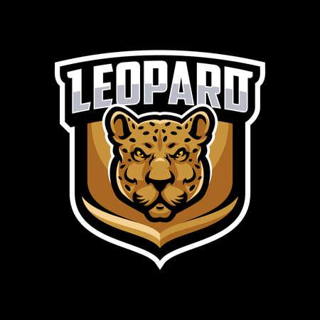 Leopard mascot logo sport