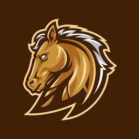 Horse mascot logo sport