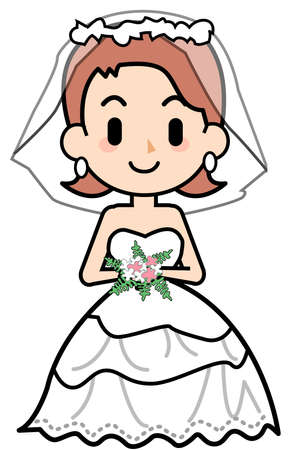 rectification: Wedding dress - white Stock Photo