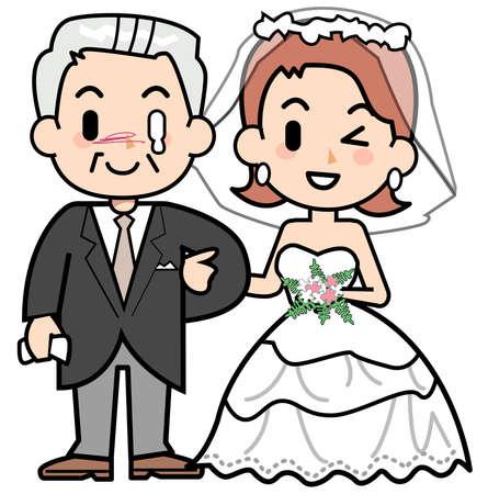 wedding dress back: Tears of wedding ceremony - father